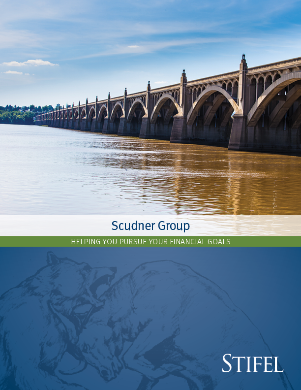 Cover of Scudner Group's Flipbook brochure _Image on the cover is of Columbia-Wrightsville-Bridge-Lancaster-Pennsylvania